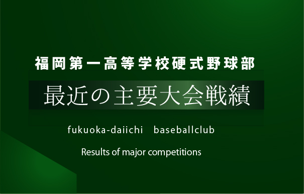 福岡第一戦績